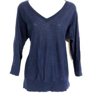 TALBOTS 100% Pima Cotton Dolman Sleeve Sweater ~ L